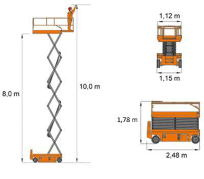 Dingli JCPT1012HD scissor lift